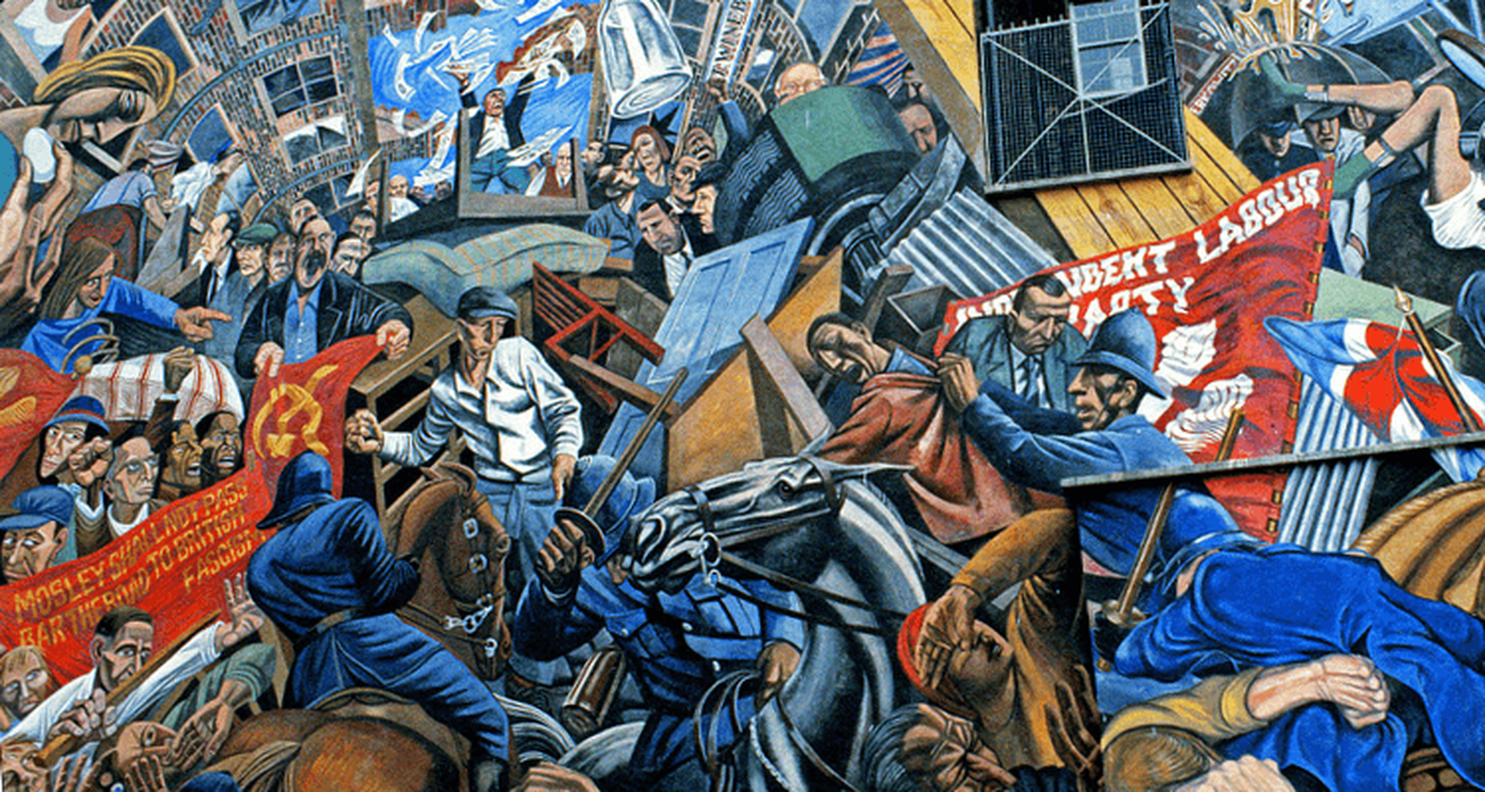 If we re cut we all bleed the same london for Battle of cable street mural