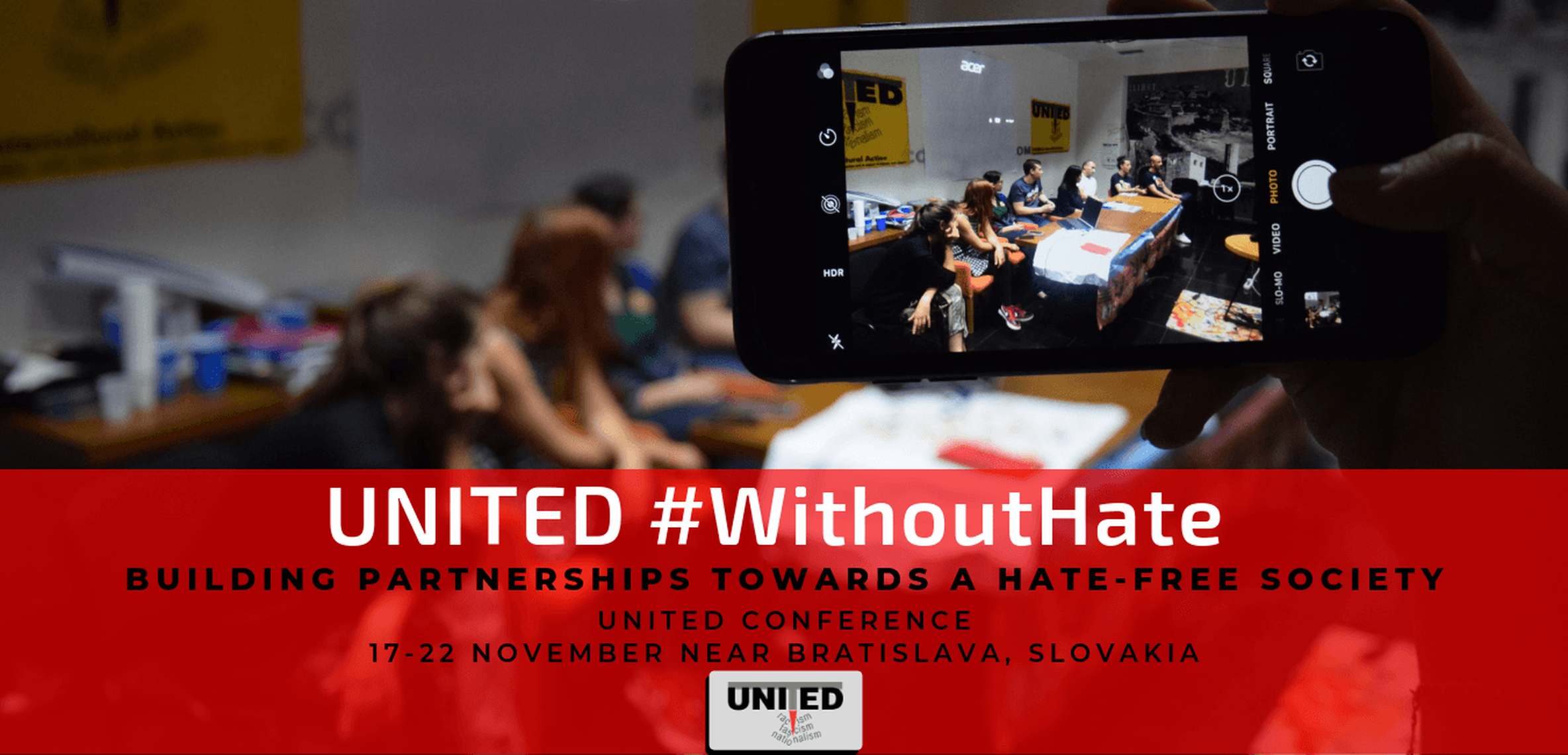 Website image - UNITED #WithoutHate conference